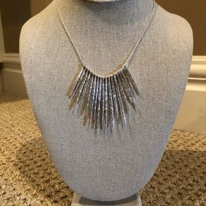 Stella & Dot Silver Fringe Necklace